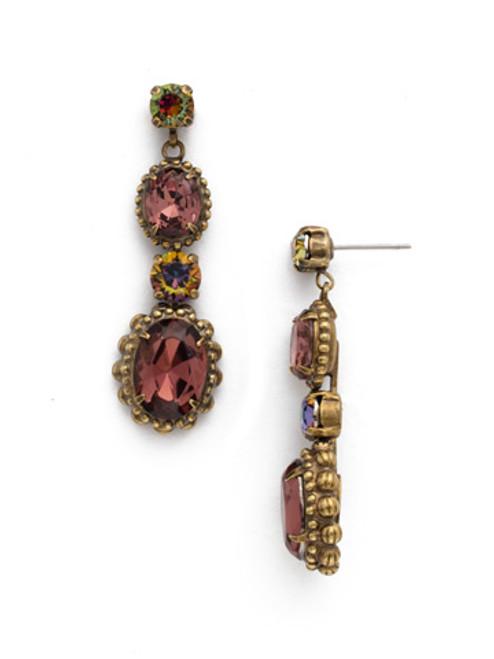 Mahogany Crystal Earrings EDQ5AGM