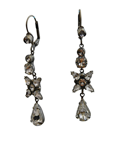 Delicate Flower Crystal Clear Earring by Sorrelli ECE30ASCRY