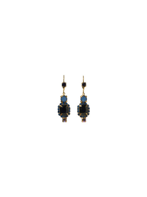 Sorrelli Lapis Gold Crystal Earrings EBZ47BGLAP
