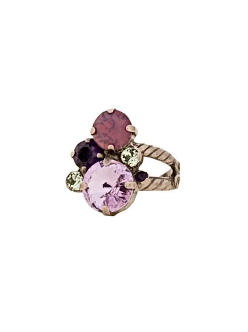 Sorrelli African Violet-Crystal Assorted Rounds Ring~ RDB11ASAFV