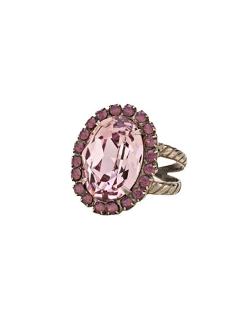 Sorrelli African Violet Glamorous Oval Cocktail Ring~ RBT68ASAFV