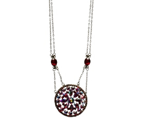 **SPECIAL ORDER**Cranberry Floral Mosaic Crystal Pendant by Sorrelli~NCC49ASCB