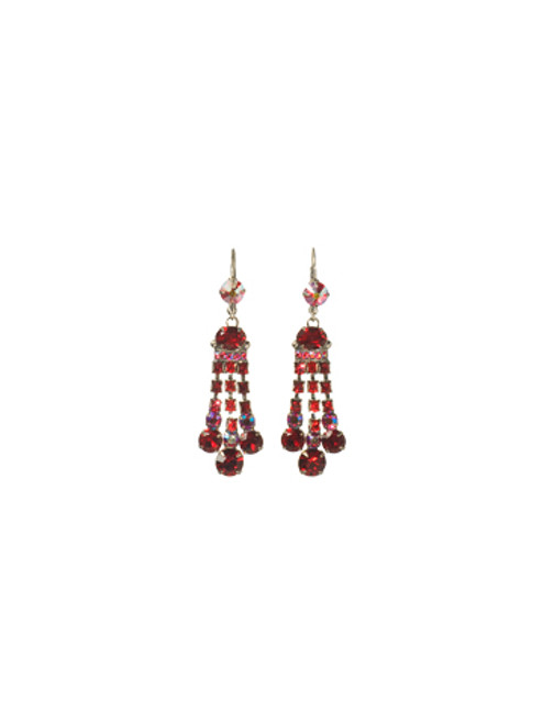 **SPECIAL ORDER**Cranberry  Three Strand Dress Up Dangle Earrings by Sorrelli~ECC1ASCB