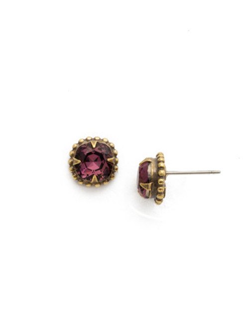 **SPECIAL ORDER**ROYAL PLUM EARRING BY SORRELLI~EDN24AGROP