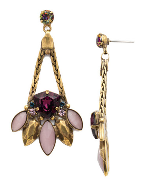 **SPECIAL ORDER**ROYAL PLUM EARRING BY SORRELLI~EDX24AGROP