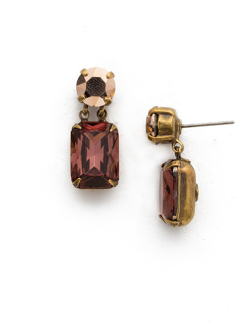*SPECIAL ORDER*  Sorrelli Mahogany Crystal Earrings~EDR30AGM
