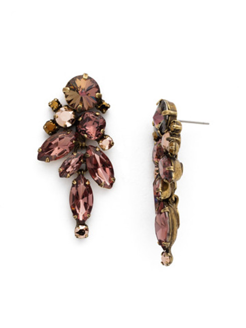 *MADE TO ORDER* Sorrelli Mahogany Crystal Earrings~ EDN50AGM