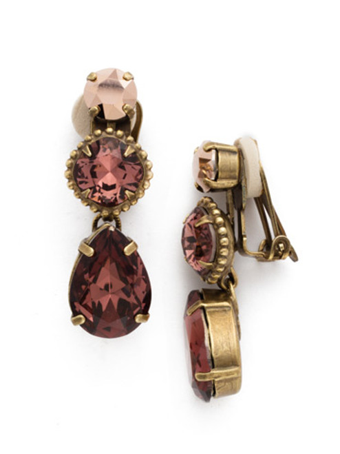 *SPECIAL ORDER* Sorrelli Mahogany Crystal Clip On Earrings~EDQ26CAGM