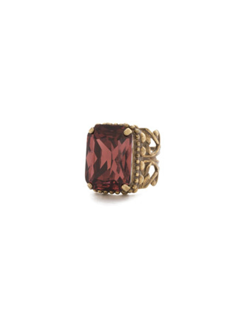 Special Order- Sorrelli Mahogany Crystal Ring~RDG32AGM