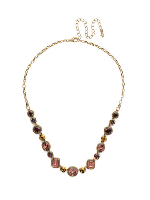 *Special Order* Sorrelli Mahogany Crystal  Necklace~NDK14AGM
