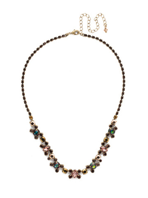 *Special Order* Sorrelli Mahogany Crystal  Necklace~NDK11AGM