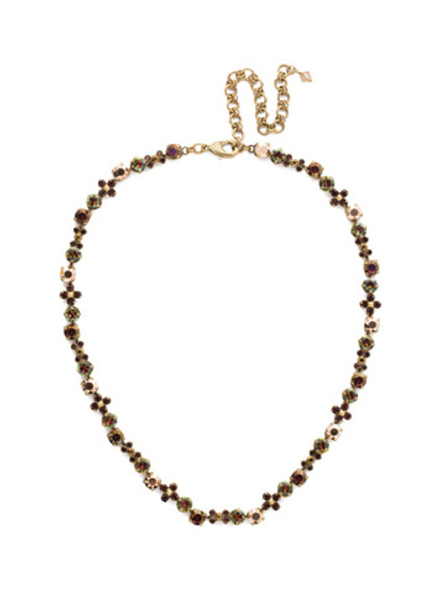 *Special Order* Sorrelli Mahogany Crystal  Necklace~NDQ39AGM