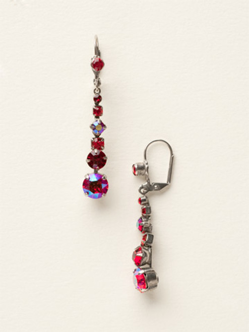 *Special Order* CRANBERRY Crystal Earrings by Sorrelli~ECQ14ASCB