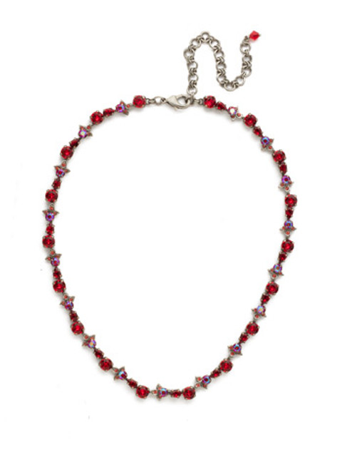 Red Ruby Crystal Necklace~ NDQ62ASRRU