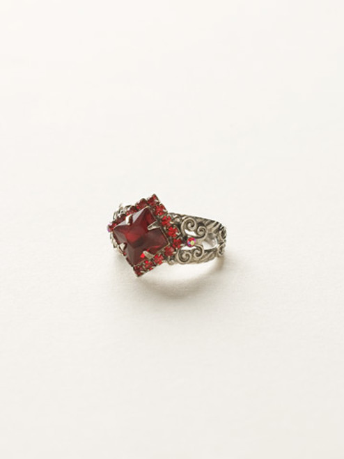 *Special Order* CRANBERRY Crystal Ring by Sorrelli~RCP9ASCB
