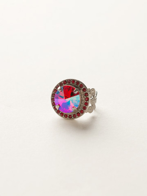 *Special Order* CRANBERRY Crystal Ring by Sorrelli~RCM5ASCB