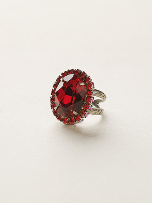 *Special Order* CRANBERRY Crystal Ring by Sorrelli~RBT68ASCB
