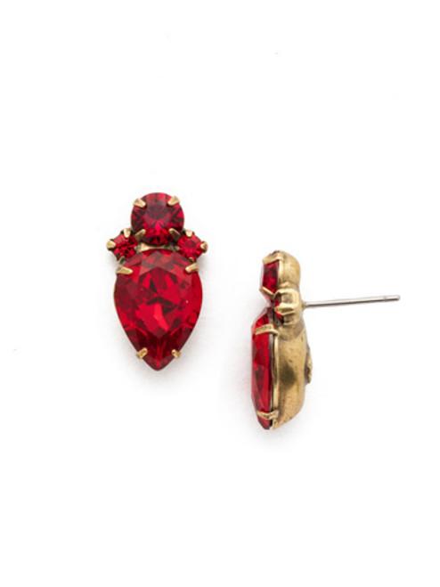 *SPECIAL ORDER* Sorrelli Sansa Red Stud Earrings~ EDS49AGSNR