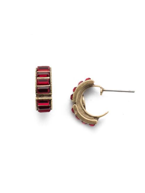 *SPECIAL ORDER*  Sorrelli Sansa Red Hoop Earrings~EEF43AGSNR