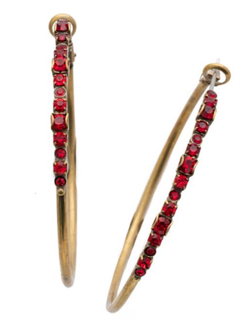 *SPECIAL ORDER*  Sorrelli Sansa Red Hoop Earrings~EDN79AGSNR
