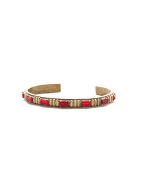 *Special Order* Sorrelli Sansa Red  Crystal Cuff Bracelet~ BEF3AGSNR