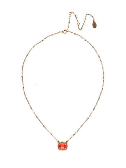 *Special Order* Sorrelli Sansa Red  Crystal Necklace ~ NEF47AGSNR