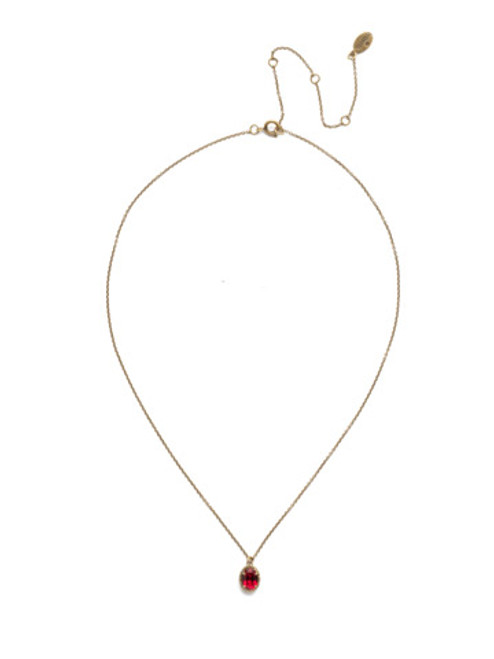 *Special Order* Sorrelli Sansa Red  Crystal Necklace ~NEF49AGSNR