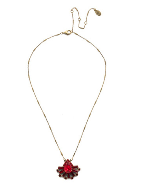 *Special Order* Sorrelli Sansa Red  Crystal Necklace ~NEF3AGSNR