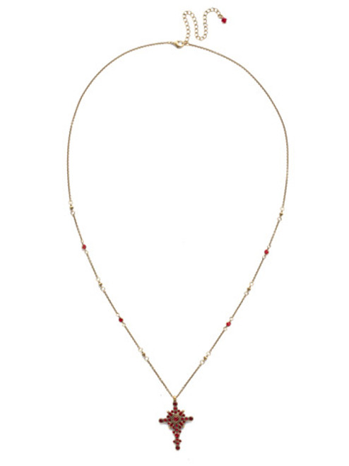 *Special Order* Sorrelli Sansa Red  Crystal Necklace ~NDH46AGSNR