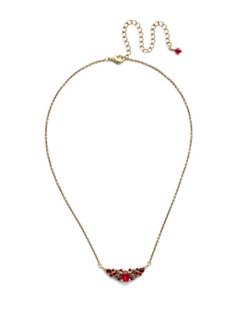 *Special Order* Sorrelli Sansa Red  Crystal Necklace ~NDX3AGSNR