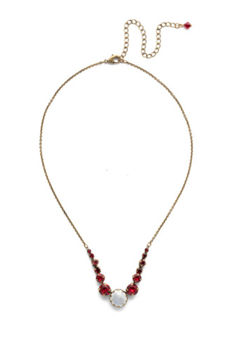 *Special Order* Sorrelli Sansa Red  Crystal Necklace ~NEF43AGSNR