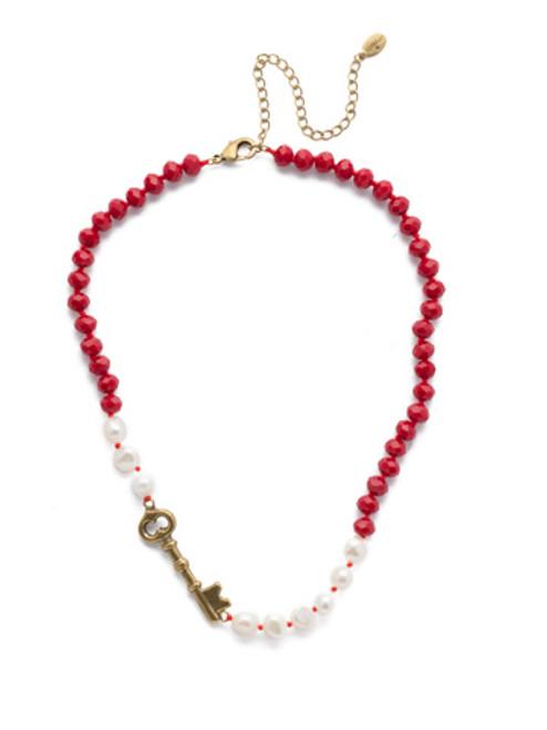 Sorrelli Sansa Red  Crystal Necklace ~NEF8AGSNR