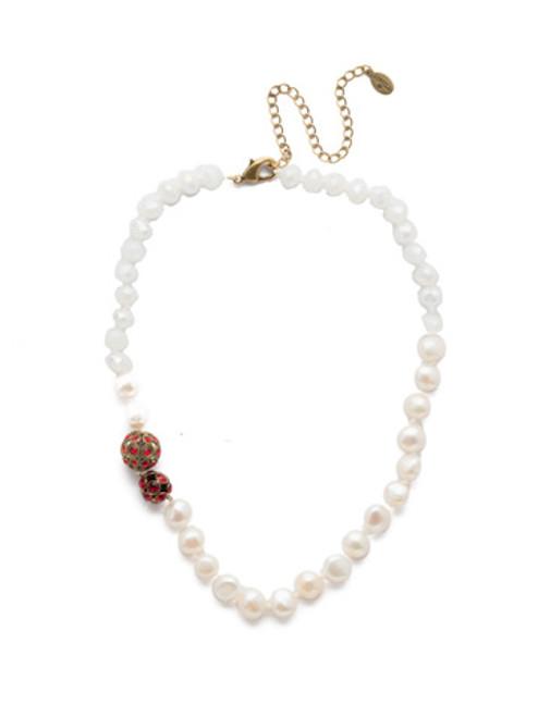 *Special Order* Sorrelli Sansa Red  Crystal Necklace ~NEF20AGSNR