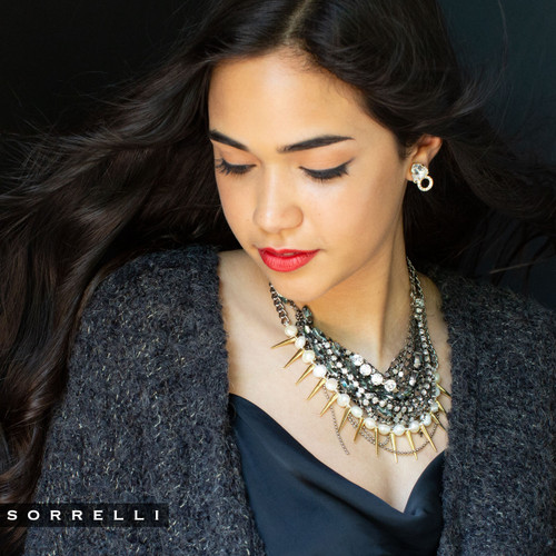 Sorrelli Modern Pearl- To The Point Necklace~ 4NEF11MXMDP