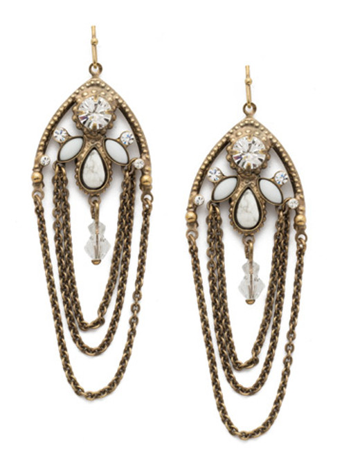SORRELLI CHARMING  CHAIN EARRINGS ~EDN101AGCRY