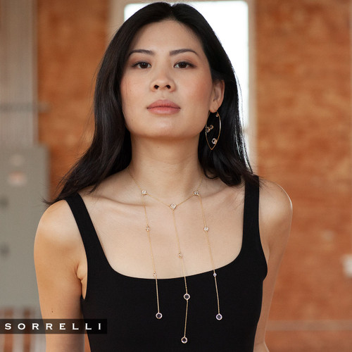 Sorrelli Crystal Collection~ Ariana Layered Necklace~ 4NEN14BGCRY