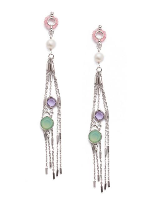 Sorrelli Tulip- Claribel Crystal Statement Earrings~ EEQ33RHTUL