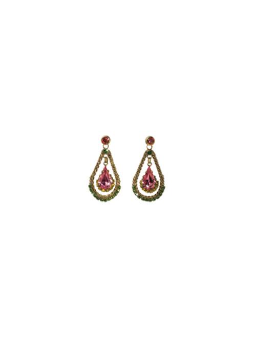 Sorrelli Hibiscus- Graceful Pear Teardrop Earrings~ ECF41AGHIB