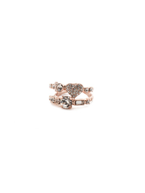 Sorrelli Crystal Collection- Ishana Stacked Crystal Ring ~ REM4RGCRY