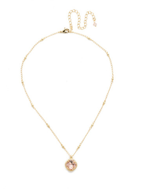 Sorrelli Vintage Rose Crystal Pendant-NDS50BGVIN