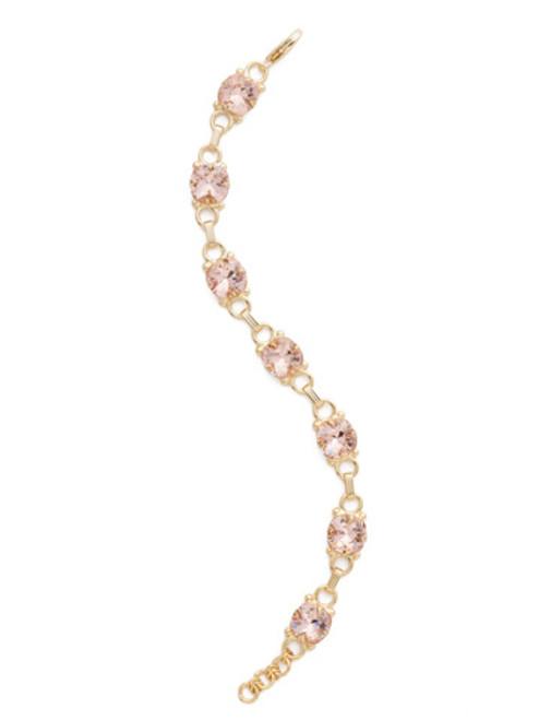 Sorrelli Vintage Rose Crystal Eyelet Line Bracelet ~BDN16BGVIN