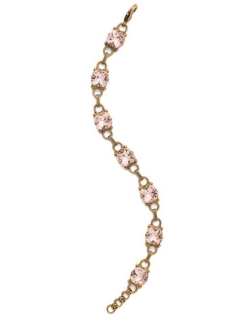 Sorrelli Vintage Rose Crystal Eyelet Line Bracelet ~Sorrelli Vintage Rose Crystal Eyelet Line Bracelet ~BDN16AGVIN