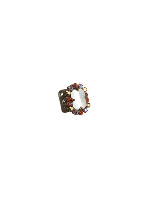 SORRELLI- KISSY FIT CRYSTAL COCKTAIL RING-RBT73AGKSF