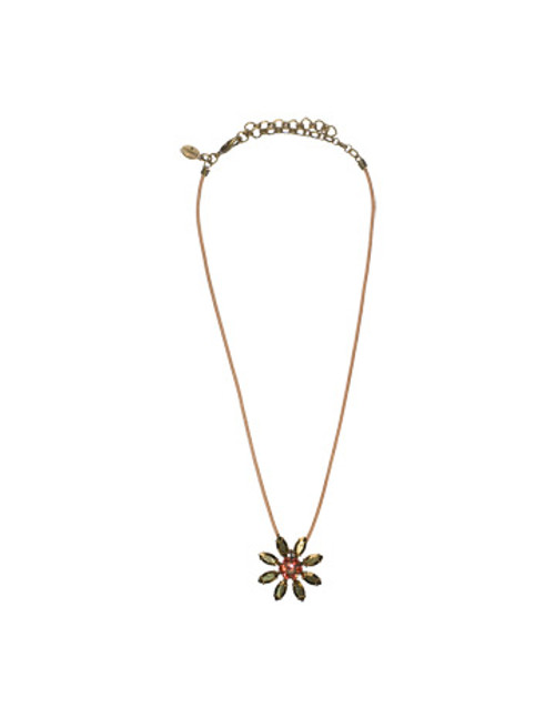 SORRELLI- KISSY FIT CRYSTAL NECKLACE- NBF15AGKSF