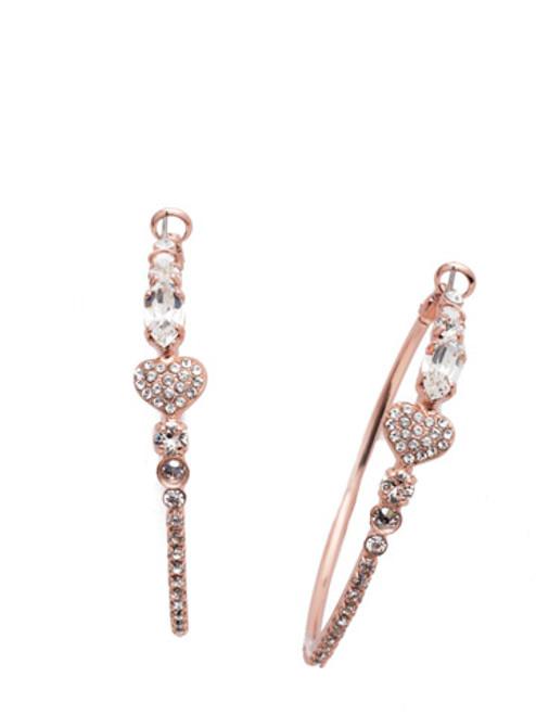 Sorrelli Ashton Crystal Hoop Earrings ~ EER50RGCRY