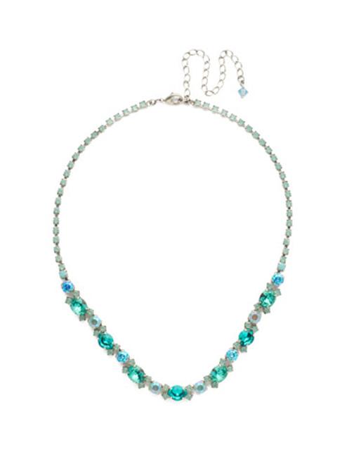 sorrelli- sweet mint crystal necklace-NDU4ASSMN