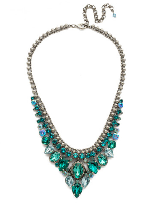SORRELLI- SWEET MINT CRYSTAL BIB NECKLACE-NDQ3ASSMN