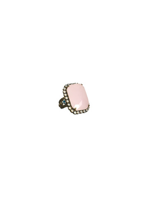 SORRELLI- PRETTY IN PINK- LUXURIOUS EMERALD CUT COCKTAIL RING- RBT69AGPNP