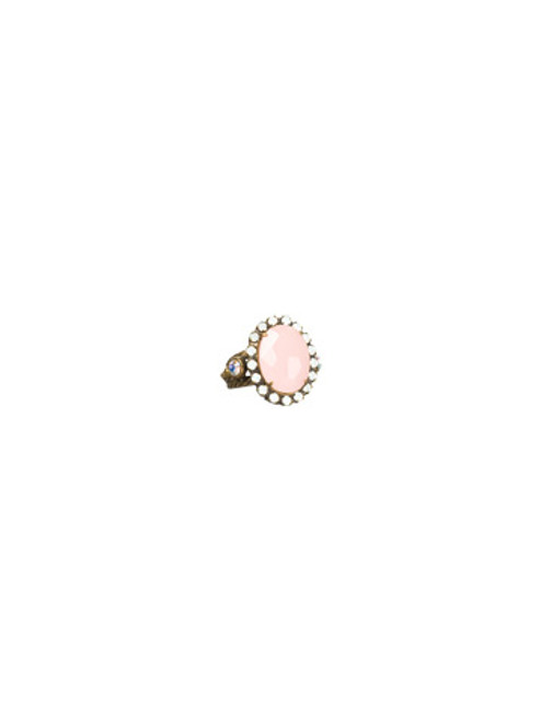 SORRELLI- PRETTY IN PINK CRYSTAL COCKTAIL RING- RBT77AGPNP