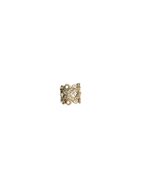 SORRELLI- PRETTY IN PINK- Wide Scarband with Small Ballchain and Crystal detail Ring- RBW5AGPNP